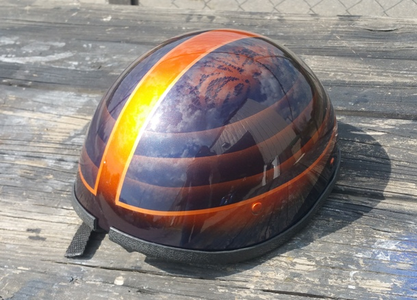 Custom painted helmet Asheville
