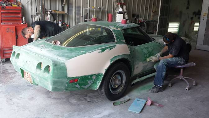 full auto restoration in hendersonville on 79 corvette