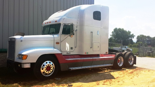 tractor trailer paint job fletcher nc