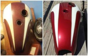 before and after custom motorcycle paint job fletcher nc