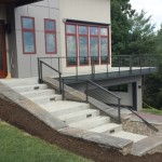 exterior handrails painted on asheville home