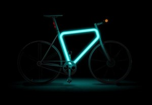 Lumilor electroluminescent painted bicycle