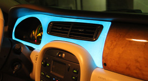 electroluminescent painted dash