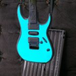 Electroluminescent painted guitar - Lumilor by TD Customs