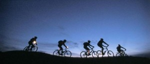 night cycling needs electroluminescent painted bikes