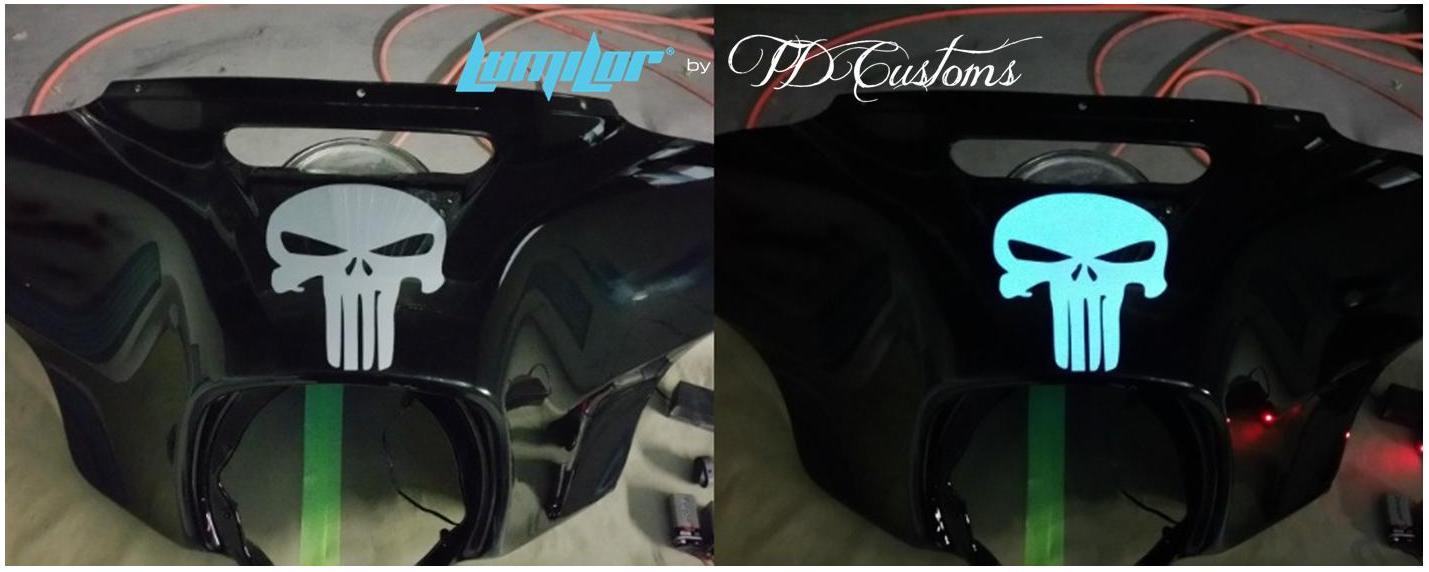 td customs lumilor light up paint motorcycle