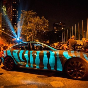 racing extinction car with light up paint