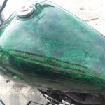 custom motorcycle paint marble effect paint Asheville