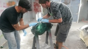 marble effect paint - custom motorcycle paint Asheville