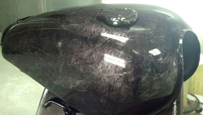 custom motorcycle paint marble