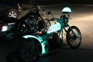 light up motorcycle paint to increase visibility, safety