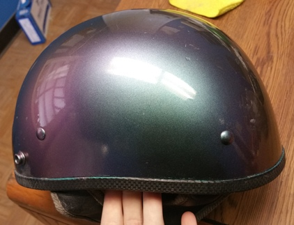 motorcycle helmet painted chameleon