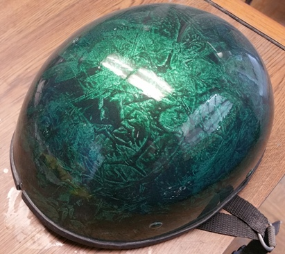 custom painted motorcycle helmet Asheville