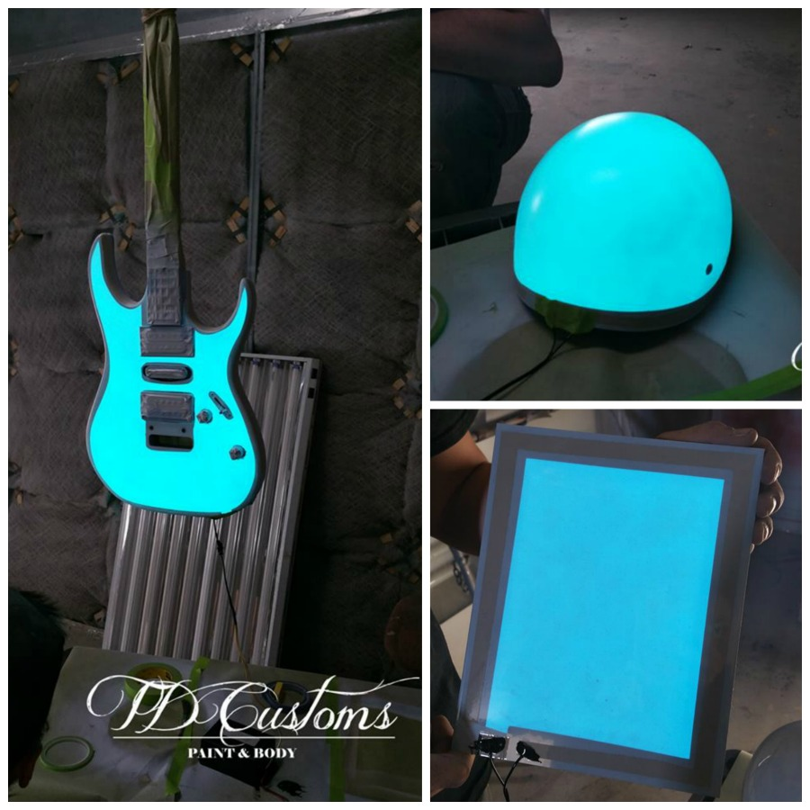 lumilor electroluminescent guitar helmet tdcustoms