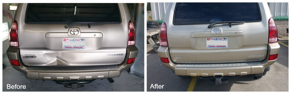 Before & After Collision Repair by TD Customs Asheville body shop