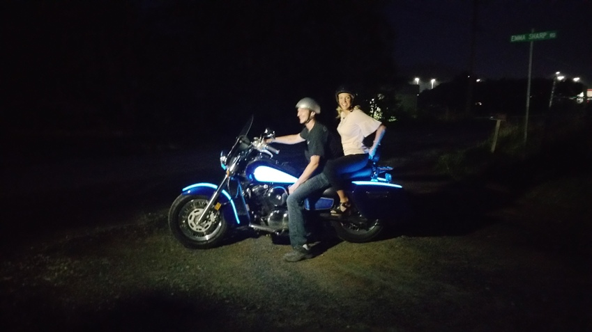 TD Customs WLOS Lauren Brigman light up motorcycle
