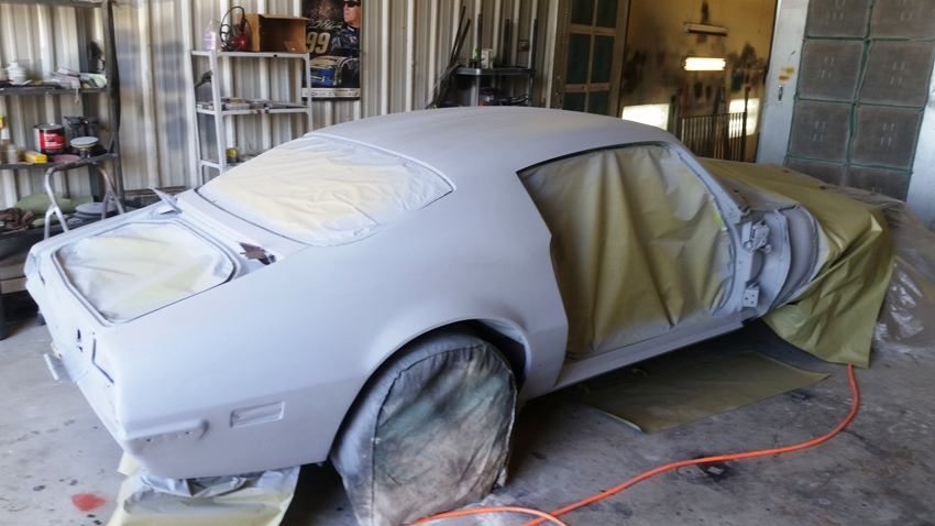 Trans Am restoration in primer