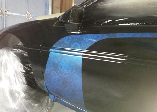 custom lace paint by TD Customs Asheville body shop