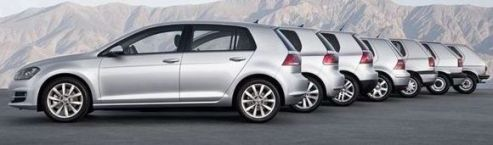 identical cars off the factory line