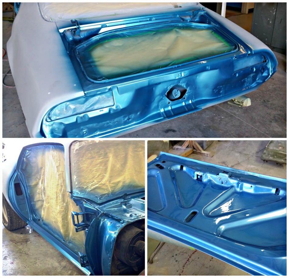 Inners painted Lucerne Blue on the 70 Trans Am