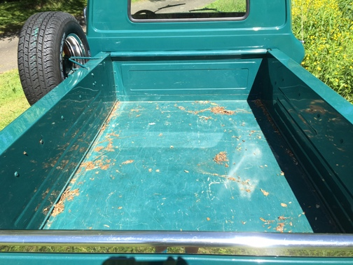 Before - Steel truck bed