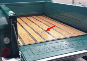 gas tank relocated to bed of truck