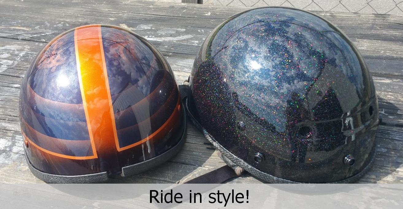 custom painted helmets job helmets TD Customs Asheville