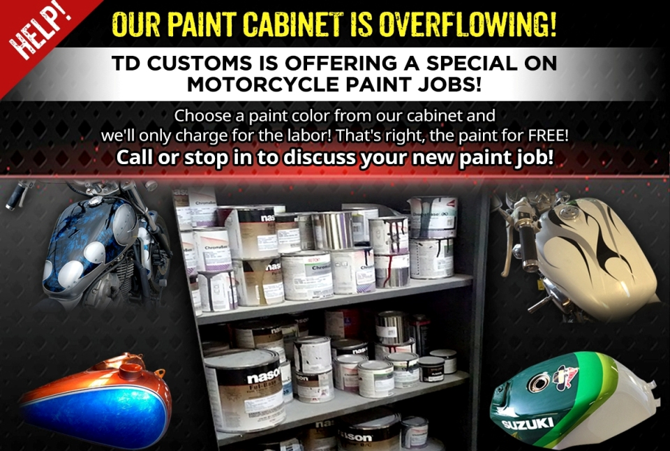 help our paint cabinet is overflowing special on motorcycle paint. Black Bedroom Furniture Sets. Home Design Ideas