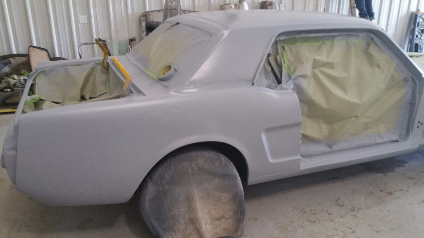 classic car in primer