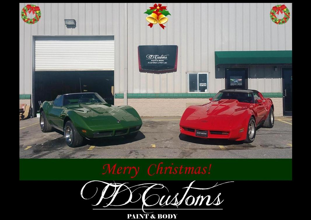 TD Customs paint body shop Merry Christmas