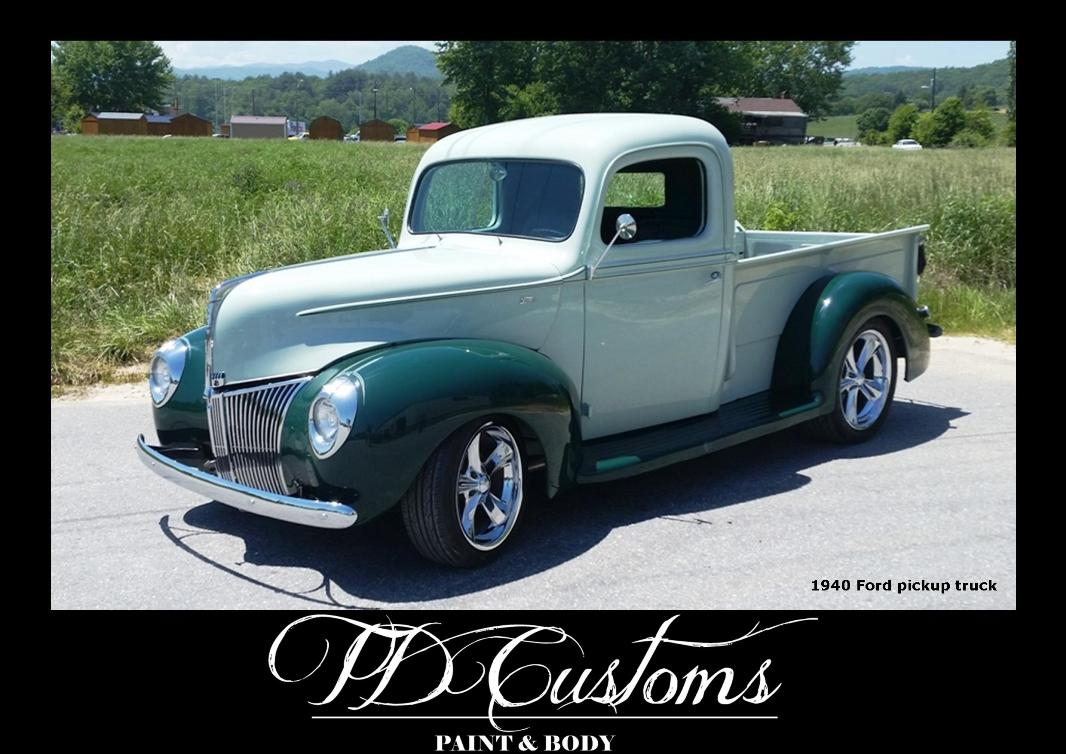 TD Customs paint body shop Mills River NC 40 Ford