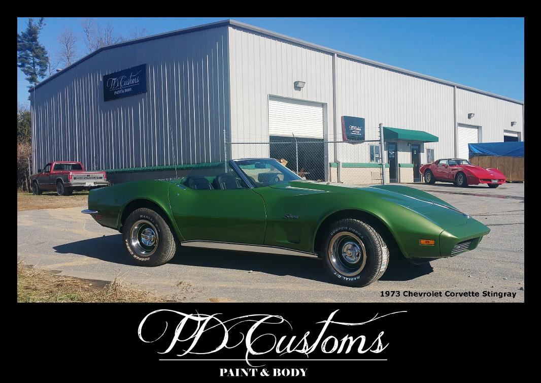 TD Customs paint body shop Mills River NC Corvette Stingray