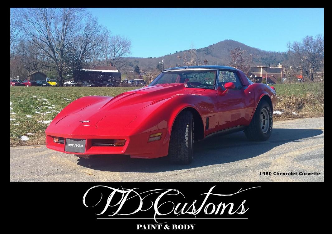 TD Customs paint body shop Mills River NC Corvette