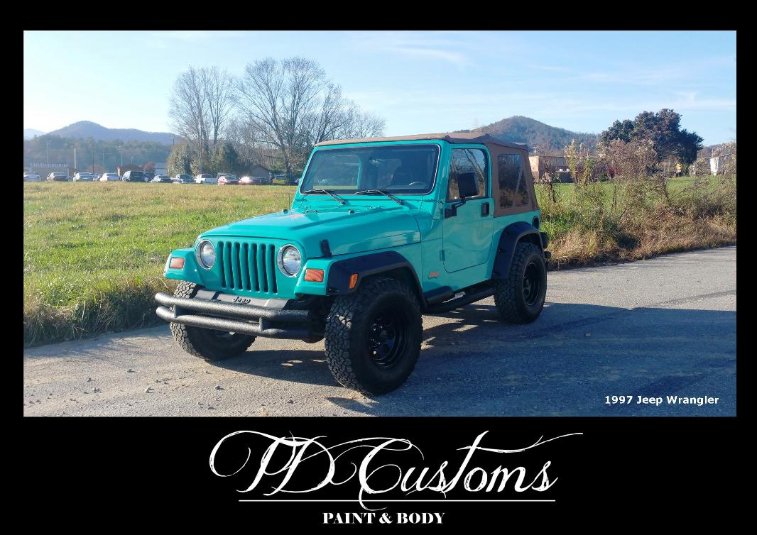 TD Customs paint body shop Mills River NC Custom paint Jeep