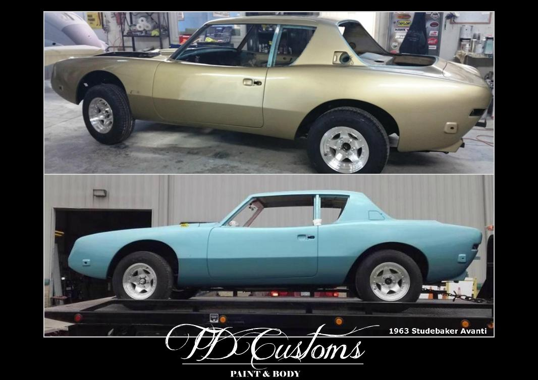 TD Customs paint body shop Mills River NC Studebaker Avanti
