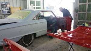 reassembling car for auto paint Arden