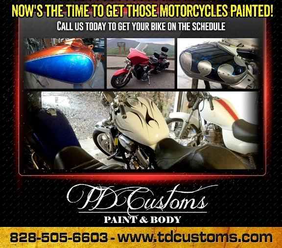 Motorcycle Paint Shop Asheville Hendersonville