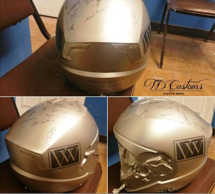 personalized helmet - custom painted motorcycle helmet