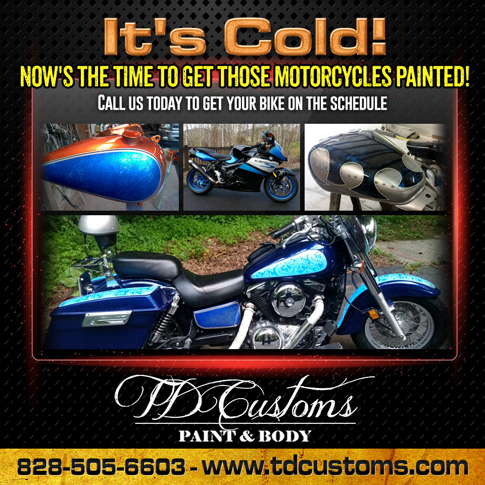 Motorcycle Custom Paint Jobs Asheville Hendersonville Fletcher Arden Mills River WNC
