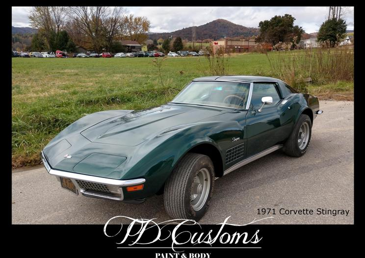 TD Customs 2019 Calendar Custom Paint Classic Restorations corvette