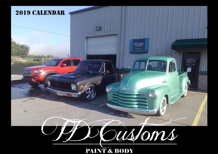 TD Customs 2019 Calendar Custom Paint Classic Restorations (13)