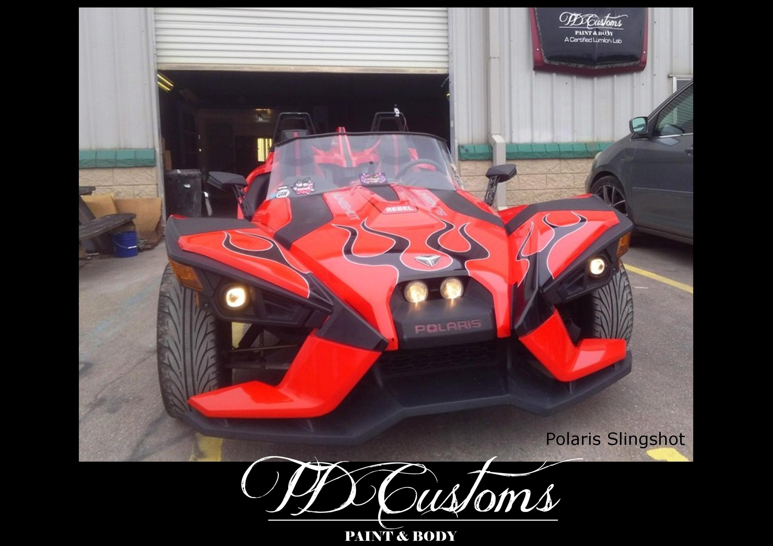 TD Customs 2019 Calendar Custom Paint Polaris Slingshot