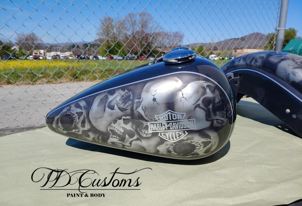 skull paint job airbrush hendersonville - Mills River custom paint