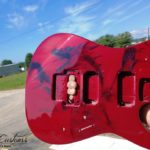 custom painted guitar Mills River TD Customs airbrush