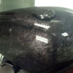 custom motorcycle paint job Arden marble effect