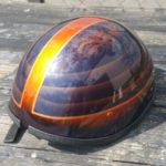 Custom painted helmet Asheville
