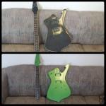 custom painted guitar mills river