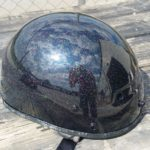 Rainbow glitter custom helmet paint Asheville