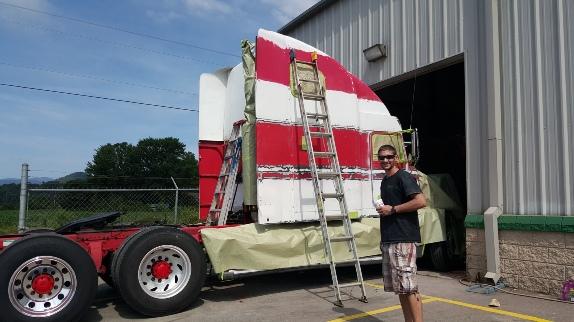 freightliner paint job fletcher