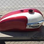 custom hendersonville motorcyle paint job to match original